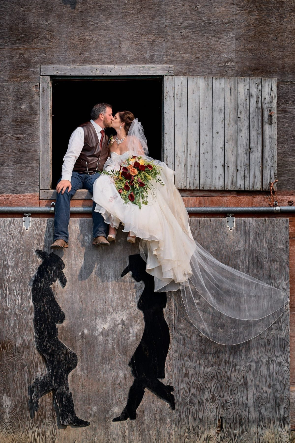 Wedding photography country rustic barn alberta