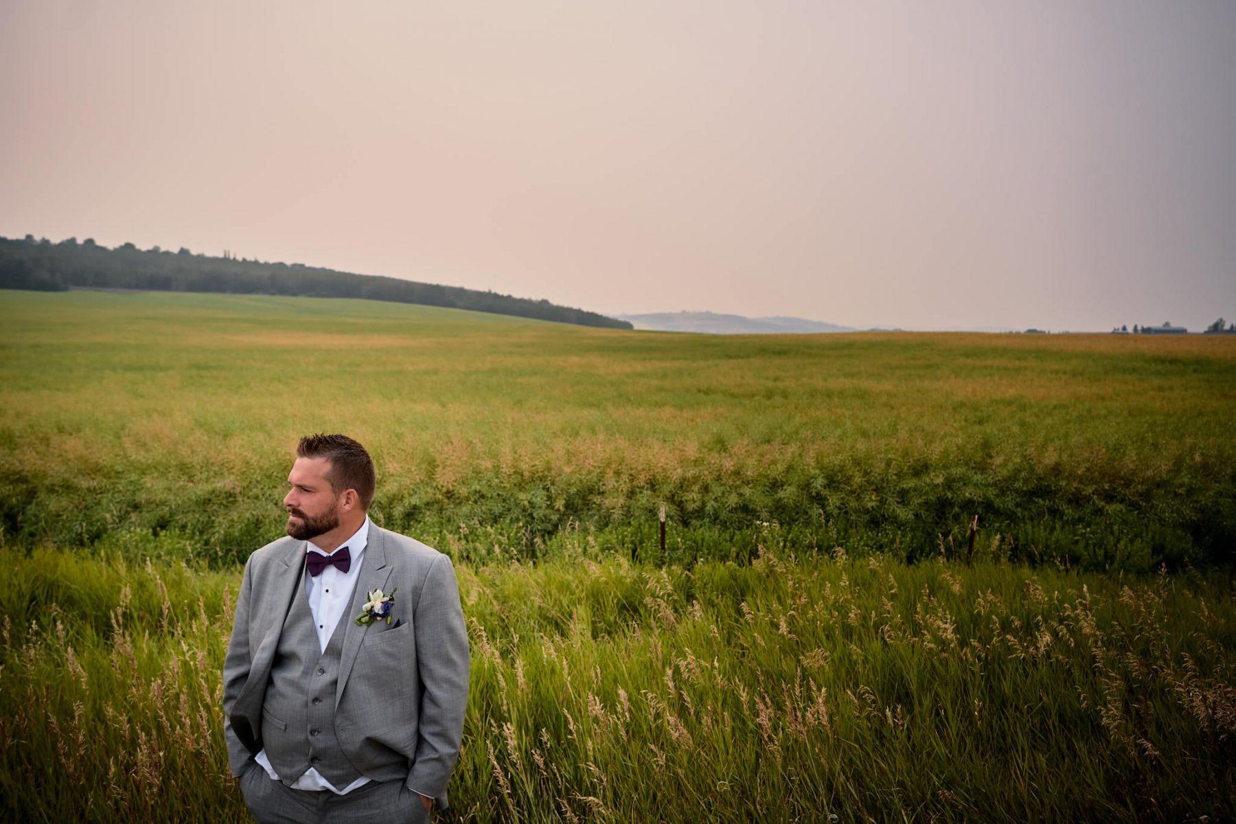 Wedding Photography groom portrait