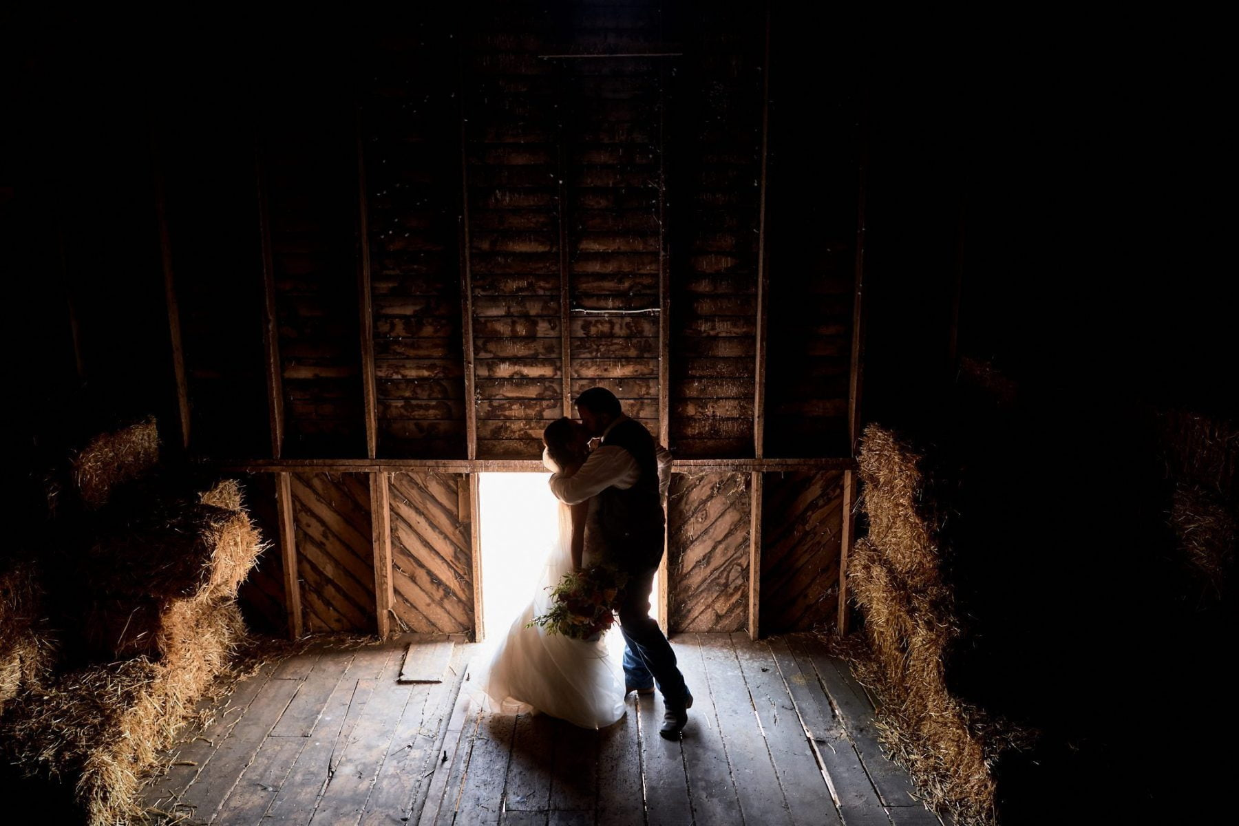 Wedding Photography country barn rustic intimate