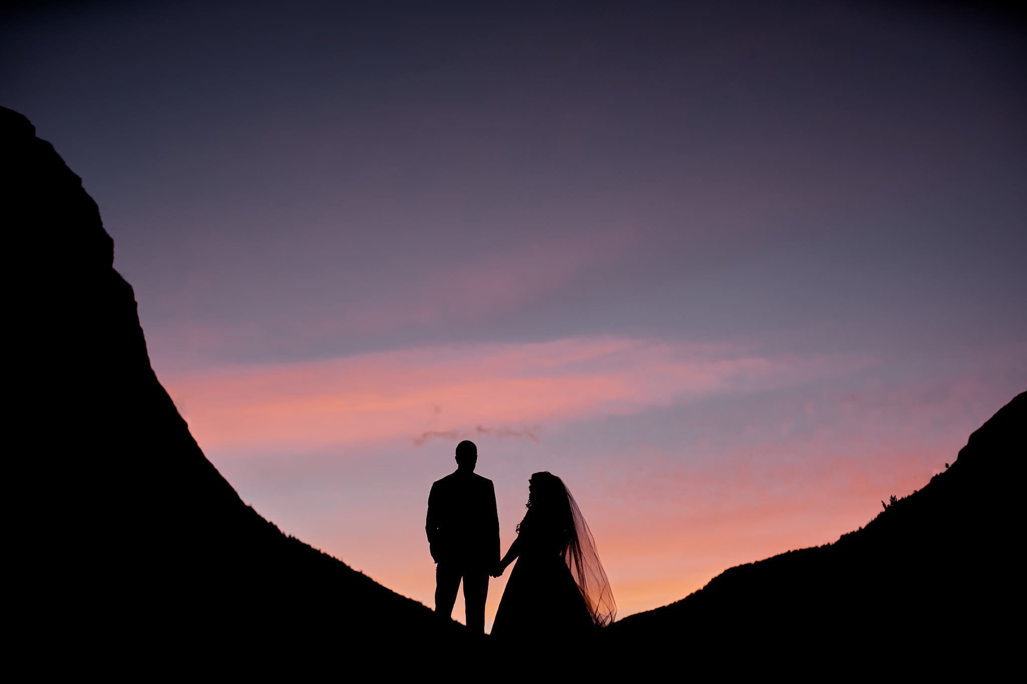 Wedding Photography sunset silhouette