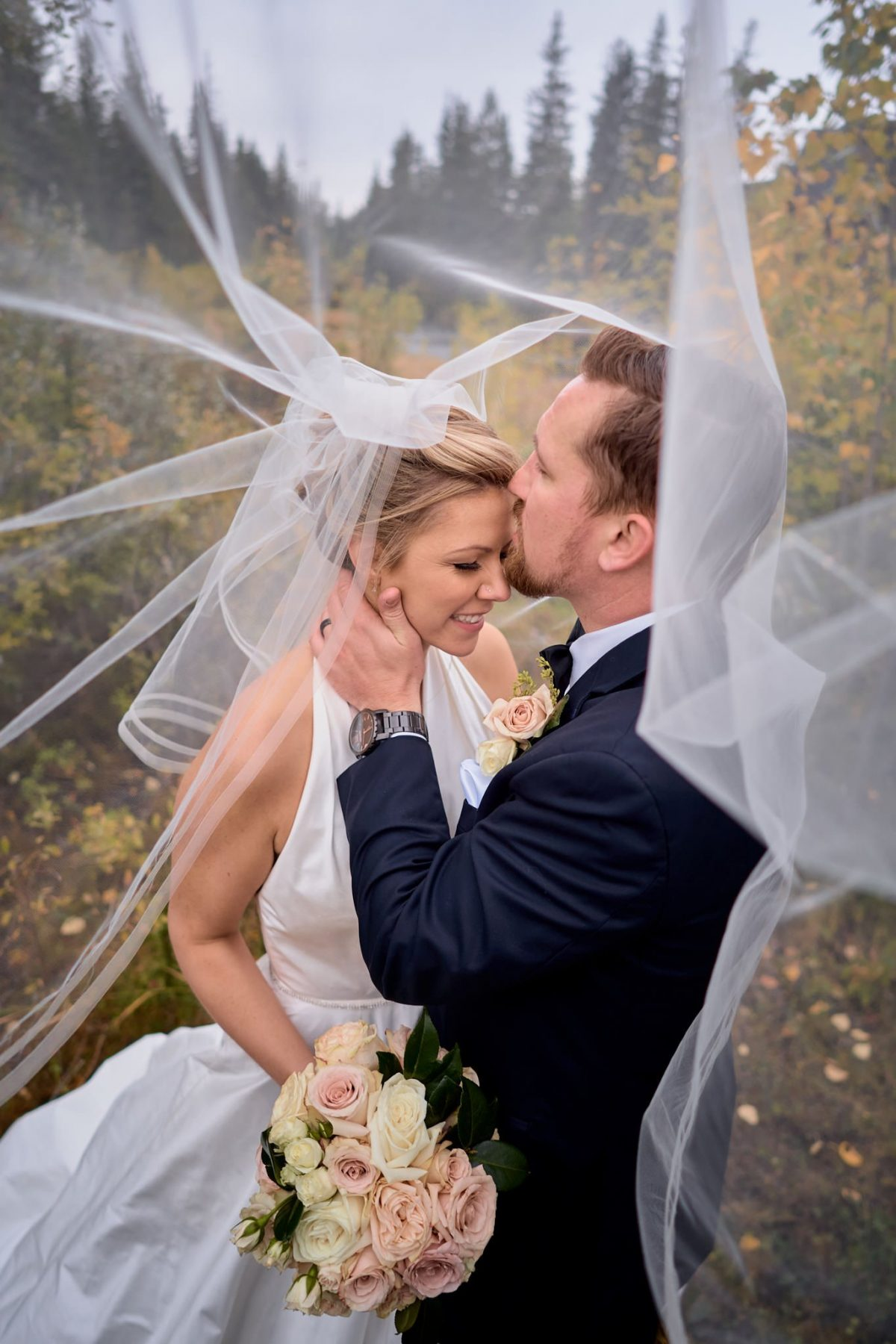 Wedding Photography veil candid