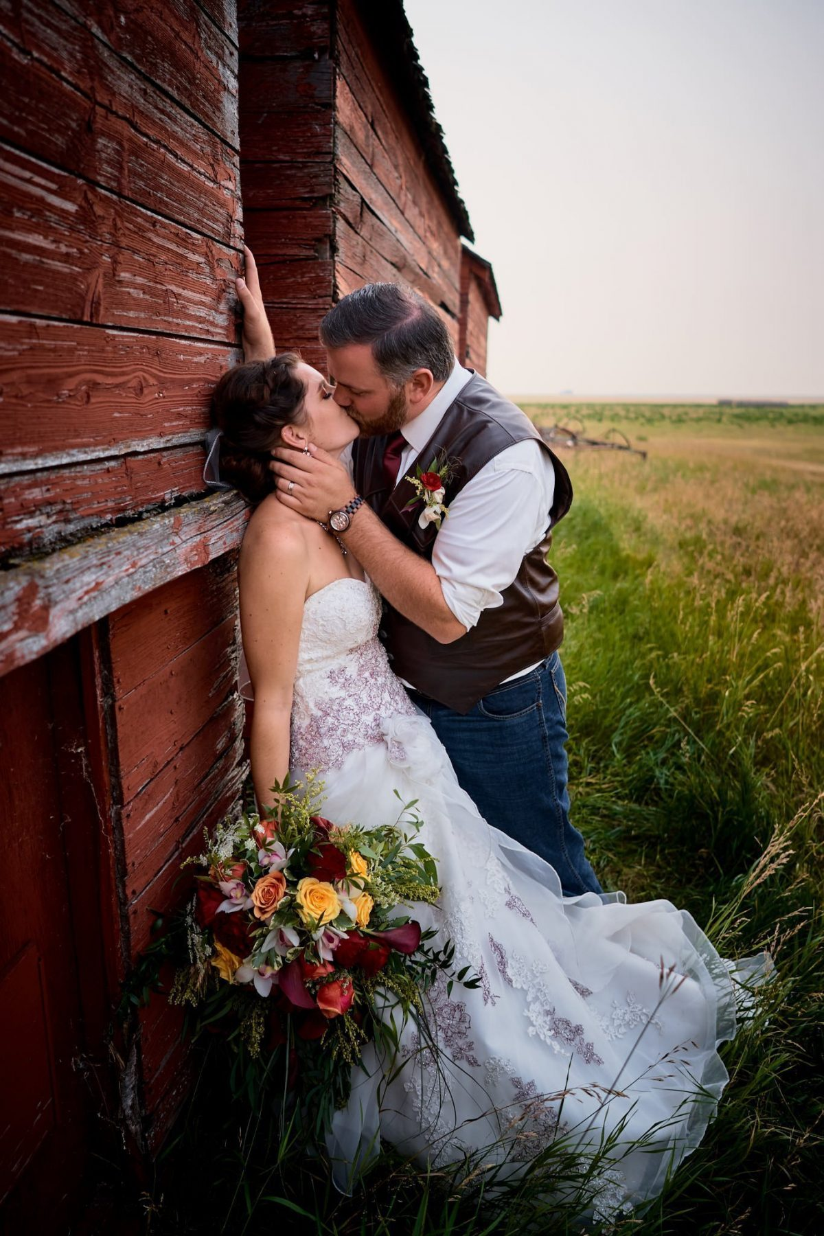 Wedding photography country rustic alberta