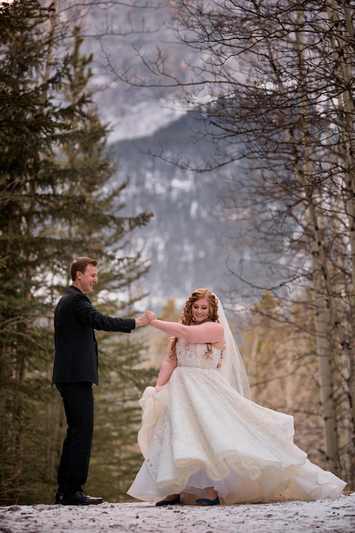 Wedding Photography kananaskis dancing mountains